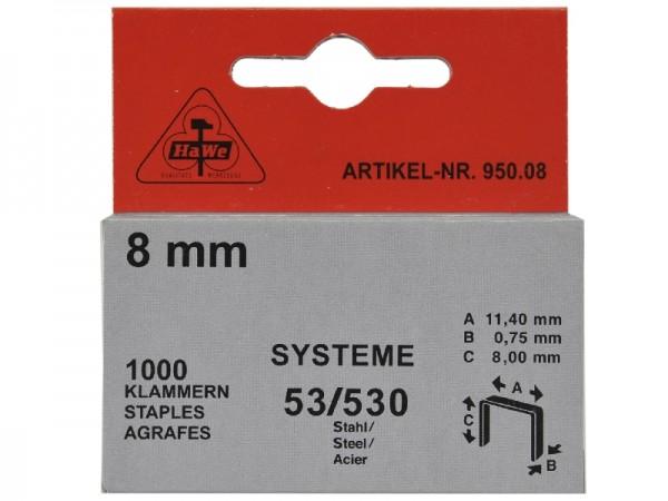 Heftklammern für System 53/530