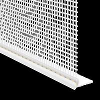 Vorschau: GIMA Rollladen-Abschlussprofil mit Gewebe und Schaumstoffklebeband an der Unterseite