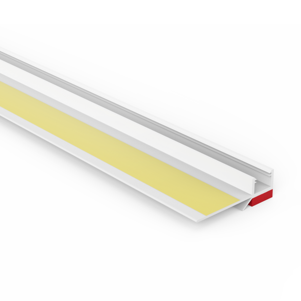 Anputzprofil mit flexibler Klebelasche