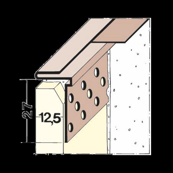 PVC Abschlussprofil mit herausziehbarem Abdeckstreifen
