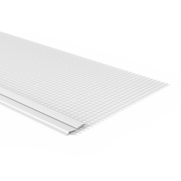 GIMA Sockelaufsteckprofil PVC mit Tropfkante