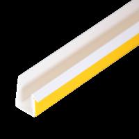 GIMA Anschlussprofil VDR 15 weiße Dichtlippe