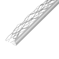 Kantenprofil Innenputz Alu weiß 8 mm
