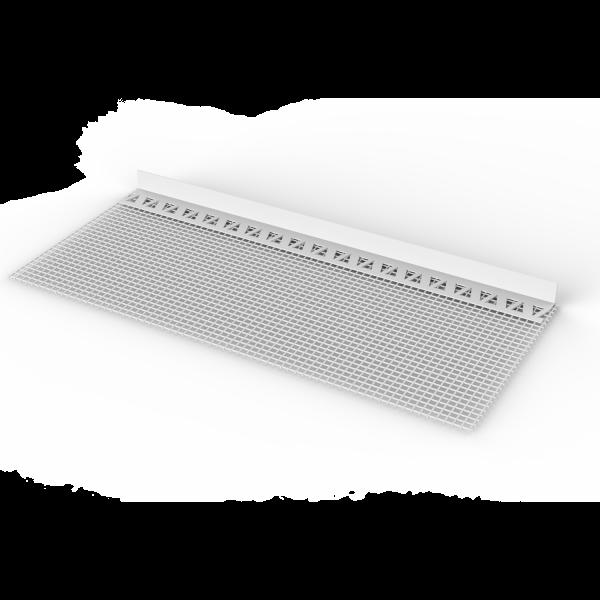 Sturz- und Spachtelprofil mit Gewebefahne