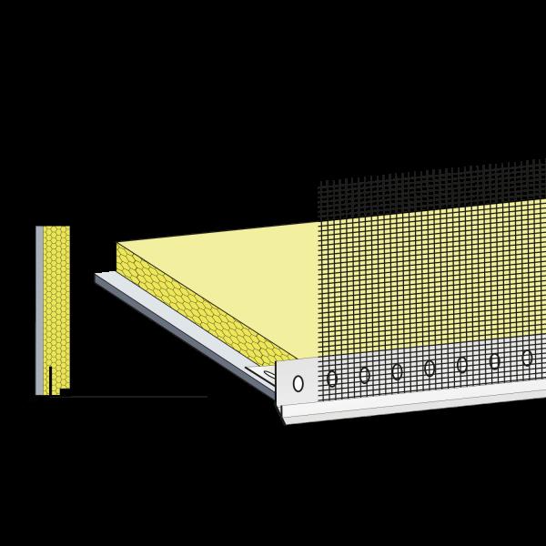 primusLPS Polytherm Typ 45 gedämmte Laibungsplatte mit Tropfkantenprofil