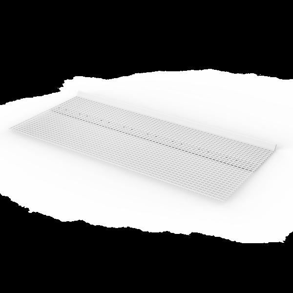 Anschlussprofil aus Kunststoff mit aufgeschweißtem Gewebe