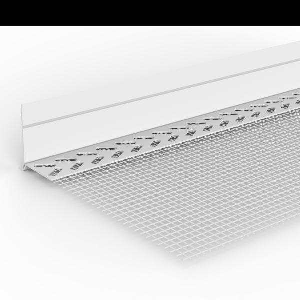 WDVS-Sockeleinsteckprofil PVC mit Tropfkante