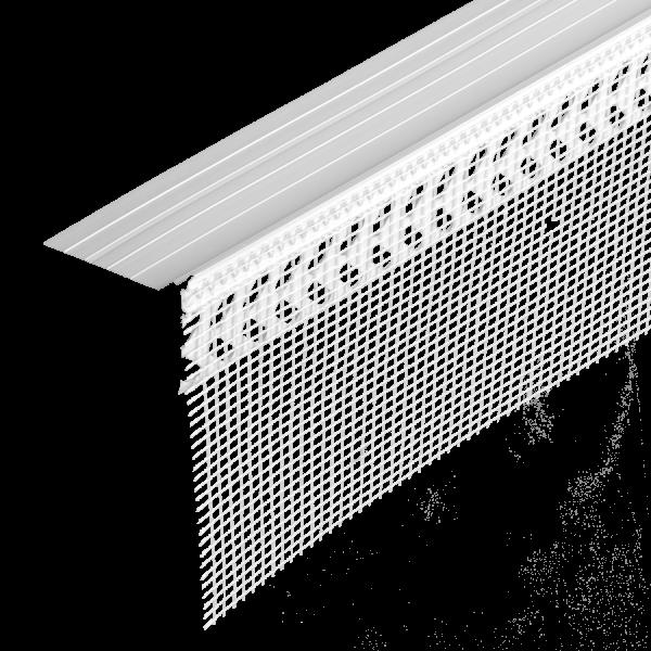 GIMA WDVS Sockeleinsteckprofil PVC mit Tropfkanten MDS