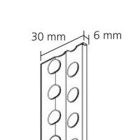 Vorschau: GIMA Putzabschlussprofil für Dünnlagen-Innenputze