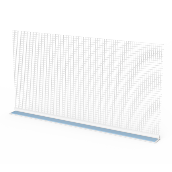 GIMA Rollladen-Abschlussprofil mit Gewebe und Schaumstoffklebeband an der Oberseite