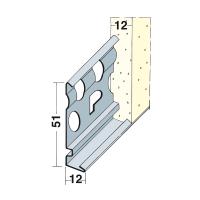 Vorschau: Sockelprofil Innen- und Außenputz Alu 12 mm