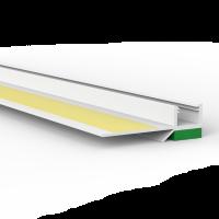 Anputzprofil mit flexibler Abziehlasche und Gelklebeband