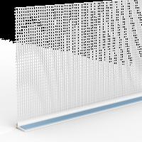 Vorschau: GIMA Rollladen-Abschlussprofil mit Gewebe und Schaumstoffklebeband an der Oberseite