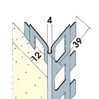 Vorschau: Kantenprofil Alu 12 mm
