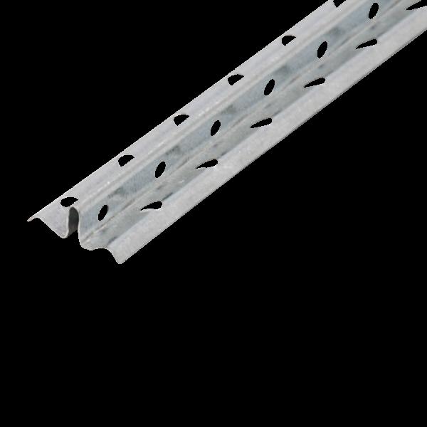 GIMA Schnellputzleiste aus verzinktem Stahlblech