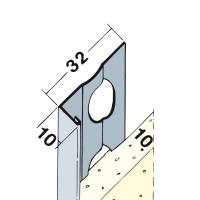 Vorschau: Putzabschlussprofil Innen- und Außenputz Alu 9 mm