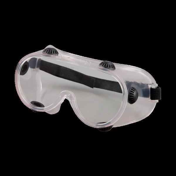 Vollsichtbrille farbloses Weichplastik