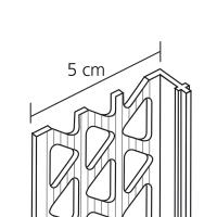 Vorschau: GIMA PVC Sockelkantenprofil für Innen- und Außenputze