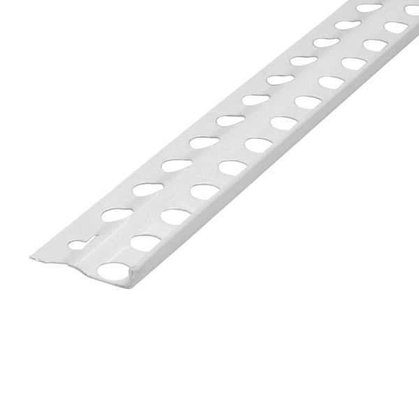 Putzabschlussprofil Innenputz Alu weiß 6 mm