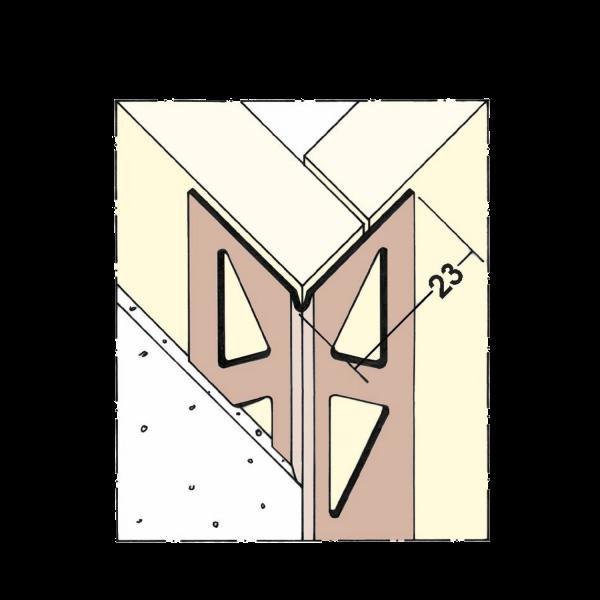 PVC-Kantenprofil auf der Rolle
