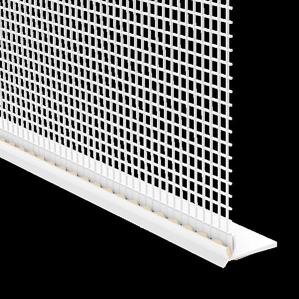 GIMA Rollladen-Abschlussprofil mit Gewebe und Schaumstoffklebeband an der Unterseite