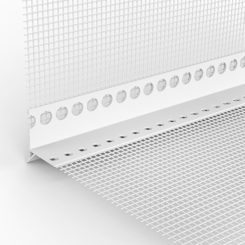 80m Tropfkantenprofil mit Gewebe PVC Kantenschutz Abschlussprofil Fassade Wand