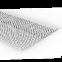 Vorschau: Anschlussprofil aus Kunststoff mit aufgeschweißtem Gewebe