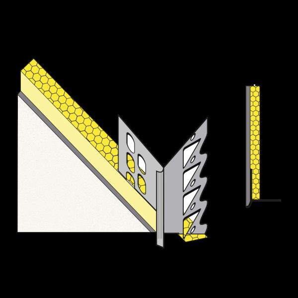 Gedämmte primusLPS Polytherm Laibungsplatte Typ 36 zum Anschluss an konventionelle Innenputzsysteme*