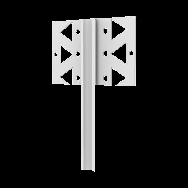 GIMA PVC Dehnfugenprofil für Innen als Eck- oder Flachprofil