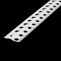 Vorschau: Putzabschlussprofil Innenputz Alu weiß 6 mm