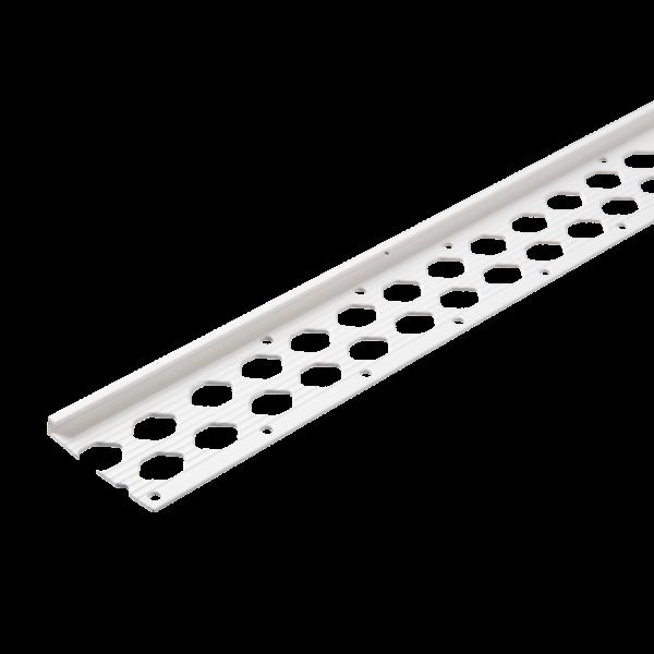 GIMA PVC Sockelkantenprofil für Innen- und Außenputze