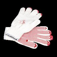 GIMA Strickhandschuhe mit roten Noppen