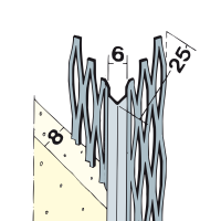 Vorschau: Kantenprofil Innenputz Alu weiß 8 mm